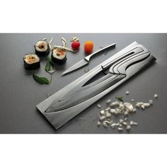 Deglon Meeting Knife Set,Stainless Steel Knives and Block,Set of 4: Amazon.com: Kitchen & Dining
