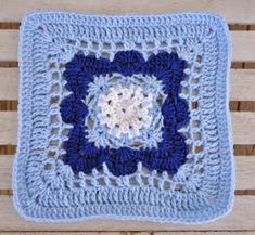 Let It Snow Granny Square Pattern | AllFreeCrochetAfghanPatterns.com