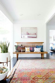 big bench - a boho luxe home that's pure california cool
