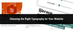 Choosing the Right Typography for Your Website