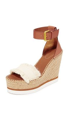 7d40162a1d3 Canvas See by Chloe Wedge Espadrilles
