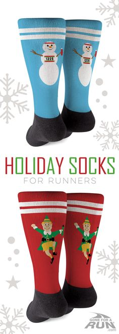 Warm and cozy athletic socks are a perfect way to celebrate the holidays. Runners will love these super festive designs while running in the snow or sitting by a cozy fire. A great gift for the holidays or any occasion.