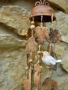 Keramická zvonkohra 21. Keramická zvonkohra 70 cm dlouhá