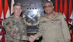 US commander visits GHQ: Gen Bajwa voices concern over blame game by Afghanistan US