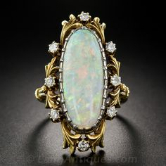 Art Nouveau Opal And Diamond Ring A Singular Gorgeous Antique Dating From
