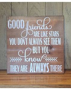 Good Friends Are Like Stars Gift For Her Best Friend