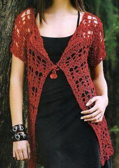 Stylish Easy Crochet: Crochet Cardigan - Women's Cardigan For Summer - Free Pattern  && lots of free crochet patterns