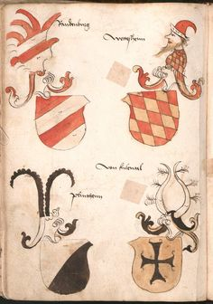 Wernigeroder (Schaffhausensches) Wappenbuch Süddeutschland, 4. Viertel 15. Jh. Cod.icon. 308 n  Folio 166v