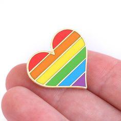 Pride pin gay Gold enamel pin decoration gay pin by CompocoPop