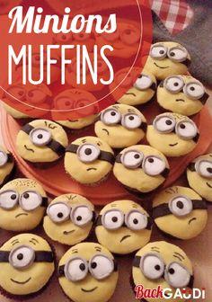 Für Faschingspartys sicherlich lustig! #MinionCupcakes