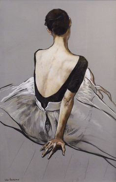 Back View Dancer by Katya Gridneva