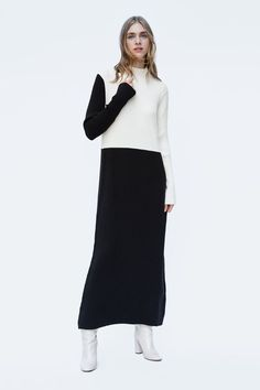 ea0eeb1a6ef 33 chic dresses under  100. Zara Colorblock Knit Dress Cute Long Sleeve  Dresses