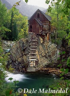 """""""Dead Horse Mill""""  Ghost town of Crystal - Crystal Mill - Near Marble, Colorado"""