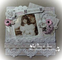 Vintage Shabby Chic, Vintage Cards, Scrapbook Layouts, Victorian, Romantic, My Favorite Things, Paper, Frame, How To Make