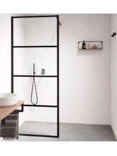 welbie Sealskin Soho inloopdouche 90cm, profielen mat zwart, helder glas