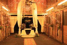beautiful barn wedding with twinkle lights!