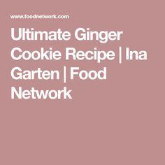 Ultimate Ginger Cookie Recipe | Ina Garten | Food Network