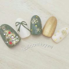 Christmas Gel Nails, Fall Gel Nails, Holiday Nails, Fall Nail Art Designs, Christmas Nail Art Designs, Iris Nails, Music Nails, Asian Nails, Cute Simple Nails