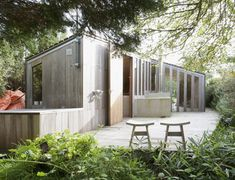 This cozy compact cottage designed by Netherlands architects Onix Architects has a simple, organic aesthetic and feel befitting of a rural retreat.