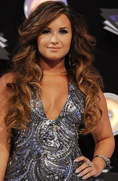 Image detail for -Demi Lovato Long and Ombre Hair Color - Demi Lovato - Zimbio, this is the hair color I want and bangs perfect!