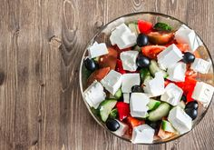 This traditional Greek salad makes a great meal all on its own!