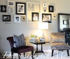 Love this room makeover. I actually like the gray paint. Didn't think it would look inviting, but it does.