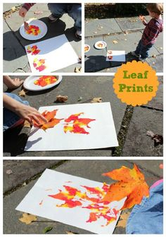 LEAF PRINTS + 5 fun fall activities to embrace before winter leaf prints