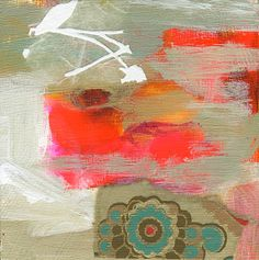Colorful Modern Art Abstract Painting Small Original by AbbyCreek