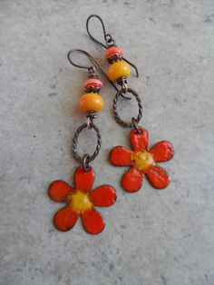 Welcome Summer ... Enameled Copper Artisan-Made by juliethelen