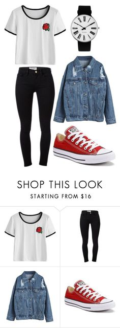 """Untitled #1312"" by audreymarie172 ❤ liked on Polyvore featuring Frame, WithChic, Converse and Rosendahl"