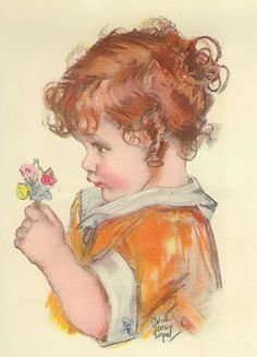 Vintage Children art prints by Maud Tousey Fangel (from the very early 1930s)
