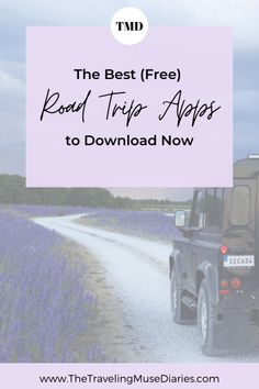 If you're planning a road trip soon you'll want to download these free road trip apps that always make my road trips a little easier. Travel Advice, Travel Quotes, Travel Tips, Travel Hacks, Travel Stuff, Time Travel, Travel Destinations, My Road Trip, Road Trip Hacks