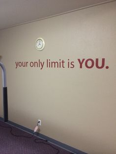 Home Office Decor, Gym Decor, Classroom Decor. Your Only Limit is YOU. Wall Decal Home Office Decor Gym Decor Klassenzimmer Dekor. Gym Room At Home, Home Gym Decor, Easy Home Decor, Gym Design, Deco Design, Design Ideas, Gym Setup, Office Setup, Office Table
