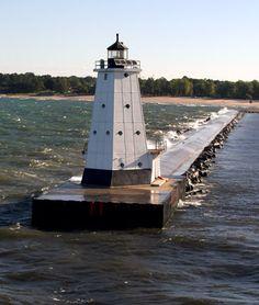 Ludington North Pier, Lake Michigan