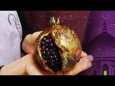 гранат - YouTube Christmas Bulbs, Christmas Decorations, Holiday Crafts, Holiday Decor, Art Textile, Clay Crafts, Paper Mache, Handmade Crafts, Diy Art