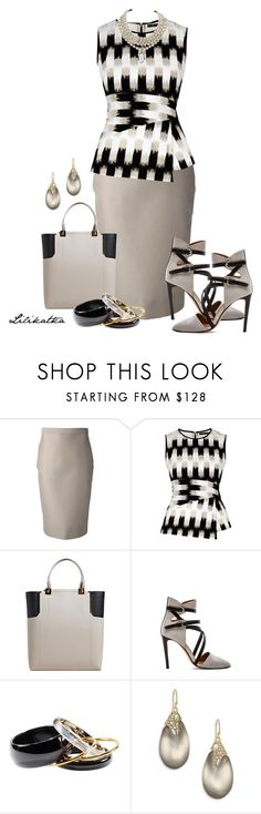 """Pivonka#1111"" by lilikatka ❤ liked on Polyvore featuring Dsquared2, BCBGMAXAZRIA, Lanvin, Rebecca Minkoff, H&M, Alexis Bittar and Miriam Haskell"