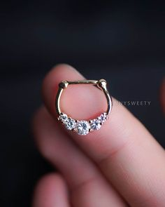 septum ring septum jewelry septum piercing 16g 16 by JennySweety