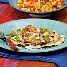 Grilled Chicken Tostadas | MyRecipes.com #myplate #grain #protein