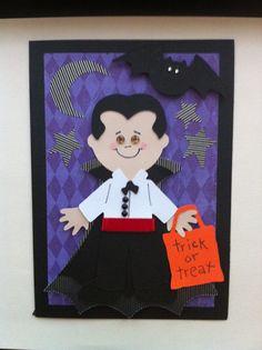 Halloween Card Cricut Paper Doll Dress Up.