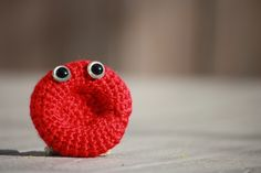 Amazing what you can get done while procrastinating, isn't it?  That's my justification, anyway.  Here's a very simple pattern to crochet an erythrocyte (red blood cell), but if y…