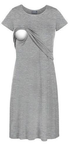 This comfortable nursing dress was designed for lounging but can be worn  out of the house bcfff471b7