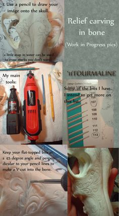 Relief carving bone: tutorial by tourmaline-83