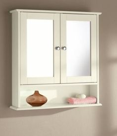 new england crme double armoire murale pour salle de bain miroir - Salle De Bain Miroir
