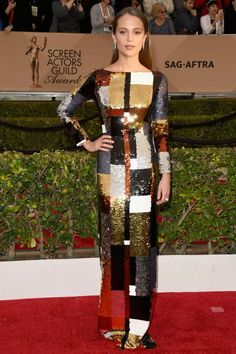 InStyle Fashion News Director Eric Wilson's Top 10 Best Dressed at the 2016 SAG Awards - Alicia Vikander in Louis Vuitton - from Red Carpet Dresses 2016, Red Carpet 2016, Celebrity Red Carpet, Celebrity Style, Alicia Vikander Style, Instyle Fashion, Louis Vuitton Dress, Style Haute Couture, Sag Awards