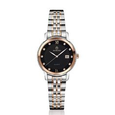 91.98$  Watch now  - Ochstin Woman Watches 2016 Brand Luxury Rose Gold Diamond Stainless Steel Calendar Unisex Watches Montre Femme Strass Acier