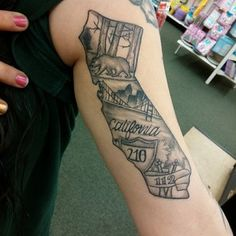 40 Breathtaking State Of California Tattoos Tattoo Ideas