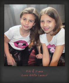 Kiki & Zara // #twinning in the LOLLY LIPS TSHIRT teamed with BLACK CINDY TULLE TUTU #girls #lovenikita #fashion #sparkle