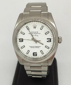 Buy a Oyster Perpetual Rolex Air King 114200 watch on Presentwatch http://www.presentwatch.com/classifieds/959379.html