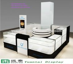 bespoke retail store shop counter design /led glass jewelry display cabinet/mall jewelry kiosk#shop counter