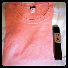 J. Crew lightweight sweater 100% linen. Three quarter sleeve. Pretty peach color. Prefect for spring. J. Crew Tops